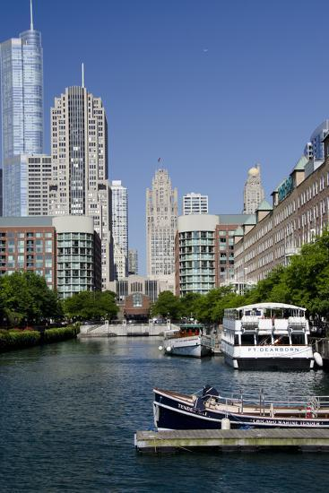 Canal View of the Chicago's Magnificent Mile City Skyline, Chicago, Illinois-Cindy Miller Hopkins-Photographic Print