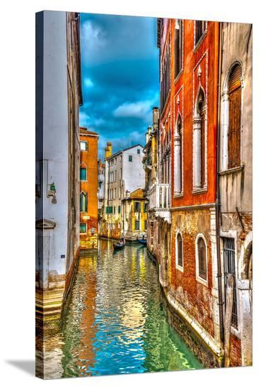 Canal & Villas Venice Italy--Stretched Canvas Print