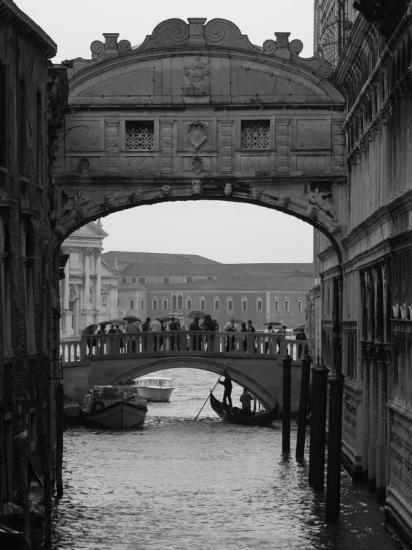 Canal with Bridge, Venice, Italy-Keith Levit-Photographic Print