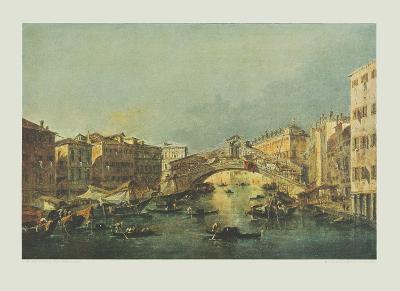 Canale Grande and Rialto-bridge, Venice-Francesco Guardi-Collectable Print