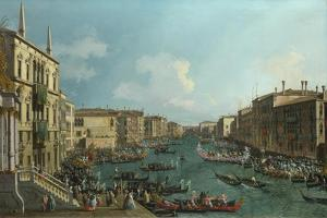 A Regatta on the Grand Canal, C. 1740 by Canaletto