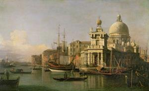A view of the Dogana and Santa Maria della Salute by Canaletto