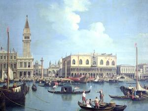 A View of the Grand Canal by Canaletto
