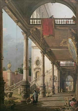 Capriccio of a Colonnade, 1765 by Canaletto