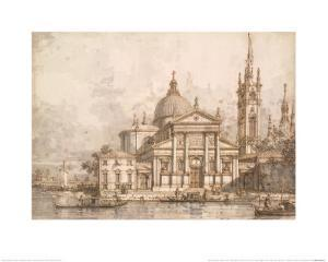 Capriccio with the Church of San Giorgio Maggiore by Canaletto