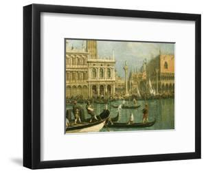 Ducal Palace and St Marks Venice Detail by Canaletto