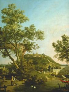 English Landscape Capriccio with a Palace, 1754 by Canaletto