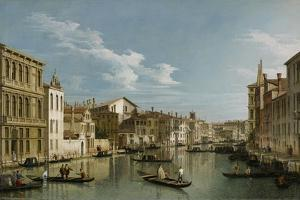 Grand Canal from Palazzo Flangini to Palazzo Bembo, C.1740 by Canaletto