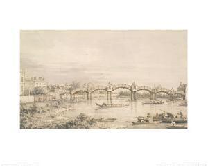Hampton Court Bridge by Canaletto