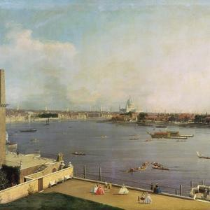 London, Thames and City as Seen from the Richmond House, 1746-1747 by Canaletto