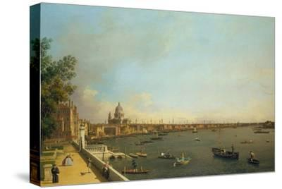 London. the Thames from Somerset House Terrace Towards the City, Ca 1751