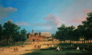 Old Horse Guards and the Banqueting Hall, Whitehall from St James's Park, 1749 by Canaletto