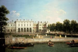 Old Somerset House from the River Thames, London by Canaletto