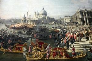 Reception of the French Ambassador in Venice, 1726-1727 by Canaletto