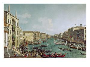 Regatta Auf Dem Canale Grande Vor Dem Palais Ca'Foscari by Canaletto
