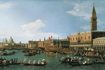 Canaletto Reproduction Ascension Day Festival at Venice Fine Art Print