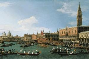 Return of Il Bucintoro on Ascension Day, 1745-1750 by Canaletto