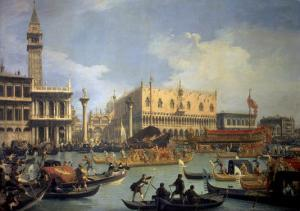 The Betrothal of the Venetian Doge to the Adriatic Sea by Canaletto