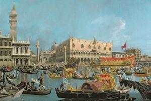 The Bucintoro Returning to the Molo by Canaletto