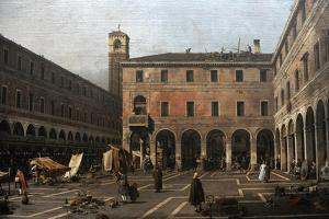 The Campo Di Rialto, 1758-1763 by Canaletto