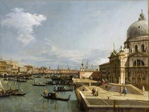 The Entrance to the Grand Canal and the Church Santa Maria Della Salute, Venice by Canaletto