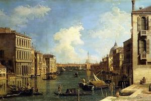 The Grand Canal, Venice, Looking East from the Campo Di San Vio by Canaletto
