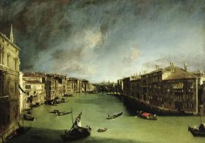 The Grand Canal, View of the Palazzo Balbi Towards the Rialto Bridge, 1724 by Canaletto