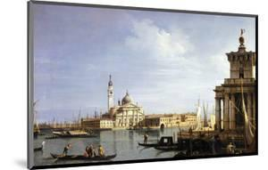 The Island of San Giorgio Maggiore, Venice with the Punta Della Dogana and Numerous Vessels by Canaletto