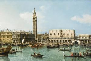 The Molo from the Basin of San Marco, Venice, C.1747-1750 by Canaletto