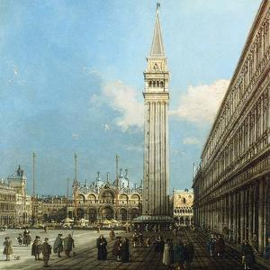 The Piazzetta, Venice, with the Bacino Di S. Marco and the Isola Di S. Giorgio Magiore by Canaletto