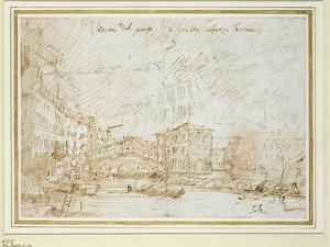 The Ponte De Rialto by Canaletto