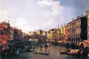 The Rialto Bridge by Canaletto