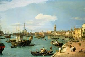 The Riva Degli Schiavoni, Looking West by Canaletto