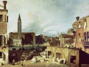 The Stonemason's Yard, C. 1726-30 by Canaletto