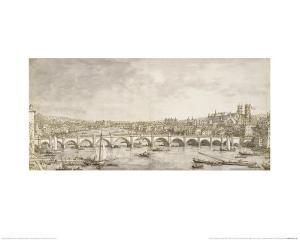 The Thames and Westminster Bridge from the North by Canaletto