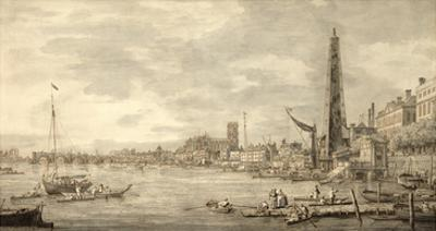 The Thames Looking Towards Westminster from Near York Water Gate