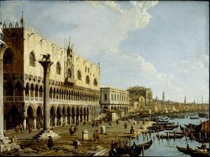 Venice: a View of the Doge's Palace and the Riva Degli Schiavoni from the Piazzetta by Canaletto