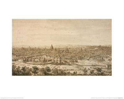 View of London from the North, a Drawing