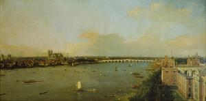 View of London with Thames, 1746/1747 by Canaletto