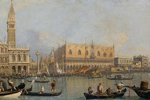 View of the Doge's Palace in Venice, before 1755 by Canaletto
