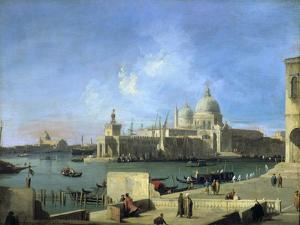 View of the Salute from the Entrance of the Grand Canal, Venice, C1727-1728 by Canaletto
