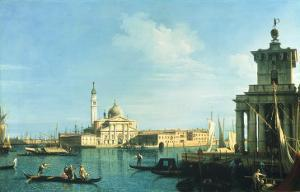 View of Venice from the Punta della Dogana towards San Giorgio Maggiore by Canaletto