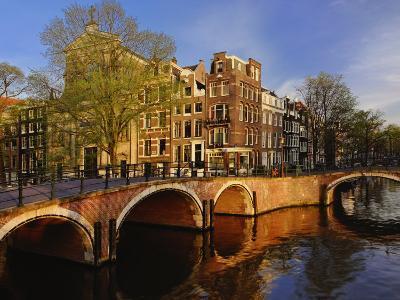 Canals at dusk, Amsterdam, Holland, Netherlands-Adam Jones-Photographic Print