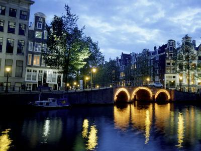 Canals of Amsterdam, Holland-Bill Bachmann-Photographic Print