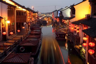 Canals of Suzhou as 'Venice of the East'-Michael Reynolds-Photographic Print
