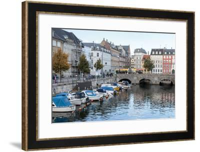 Canals with Boats. Copenhagen Center. Denmark-Tom Norring-Framed Photographic Print