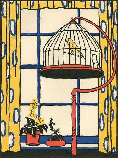 Canary in Cage--Art Print