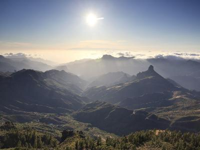 Canary Islands, Gran Canaria, Central Mountains, View of West Gran Canaria from Roque Nublo-Michele Falzone-Photographic Print