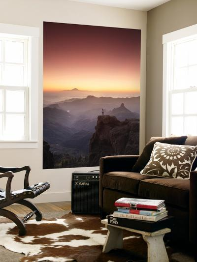 Canary Islands, Gran Canaria, Central Mountains, View of West Gran Canaria from Roque Nublo-Michele Falzone-Wall Mural