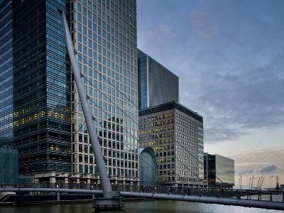 Canary Wharf, Docklands, London, England, United Kingdom, Europe-Ben Pipe-Photographic Print